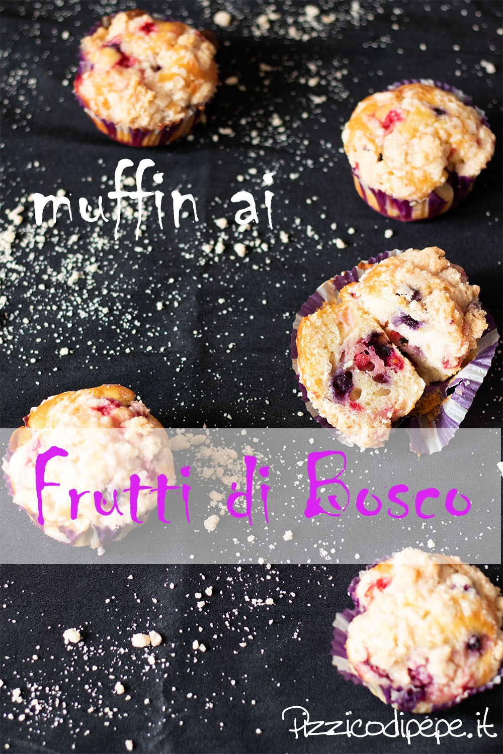 Muffin ai frutti di bosco Pizzicodipepe.it