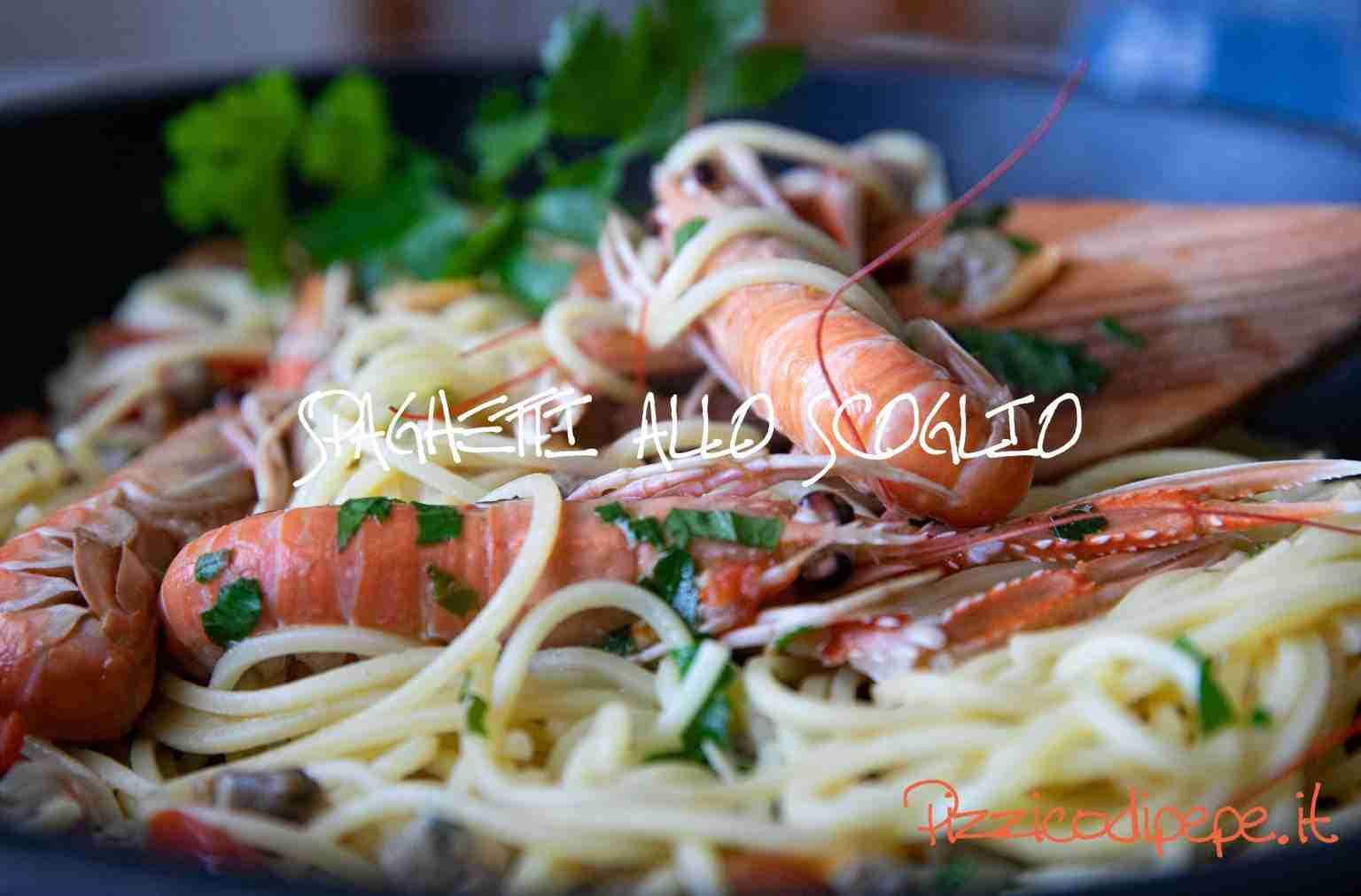 piatto spaghetti allo scoglio